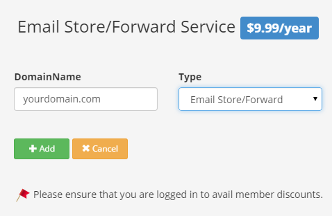 Email Store/forward Sign up